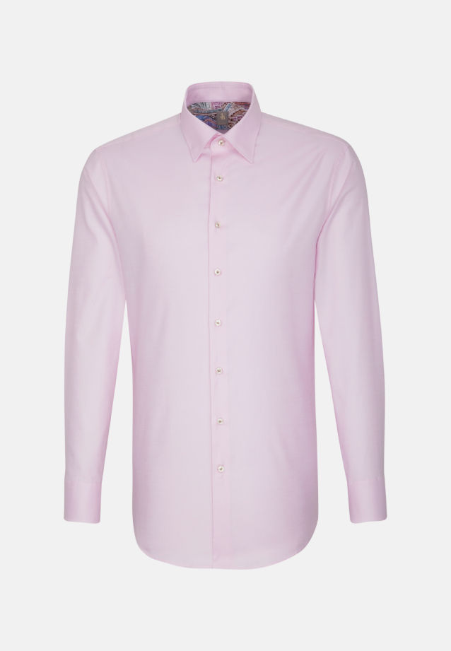 Oxford Business Hemd in Custom Fit mit Under-Button-Down-Kragen in Rosa/Pink |  Jacques Britt Onlineshop
