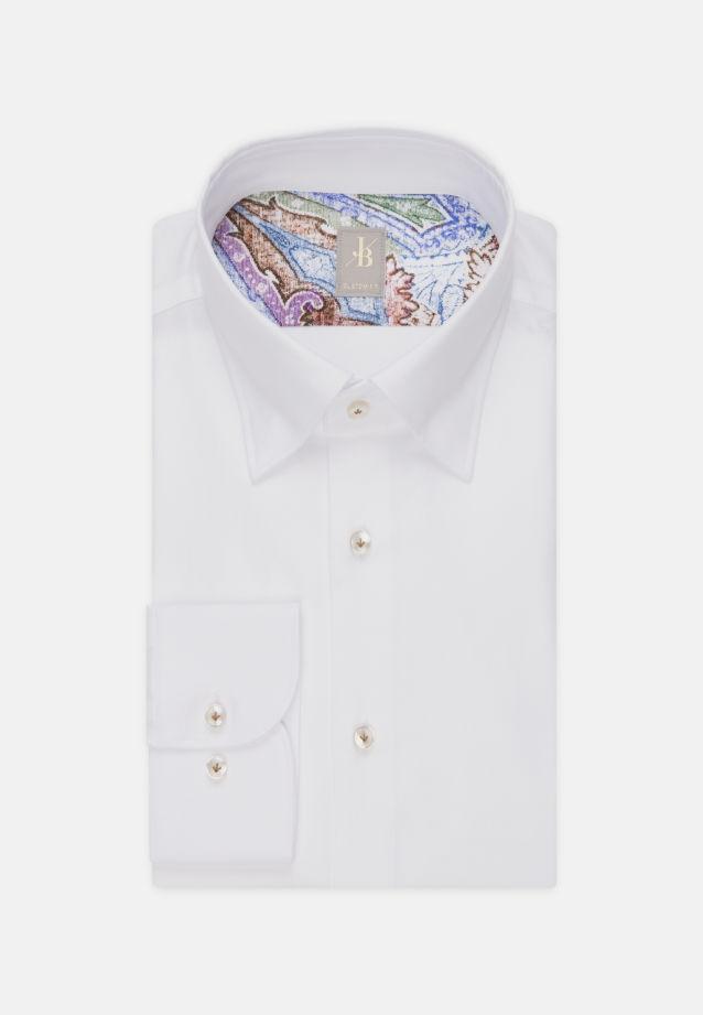 Oxford Business Hemd in Custom Fit mit Under-Button-Down-Kragen in Weiß    Jacques Britt Onlineshop