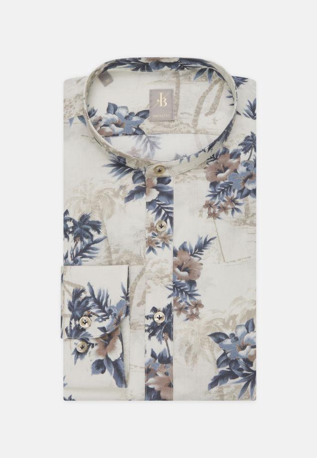 Popeline Smart Casual Hemd in Perfect Fit mit Stehkragen in Dunkelblau |  Jacques Britt Onlineshop