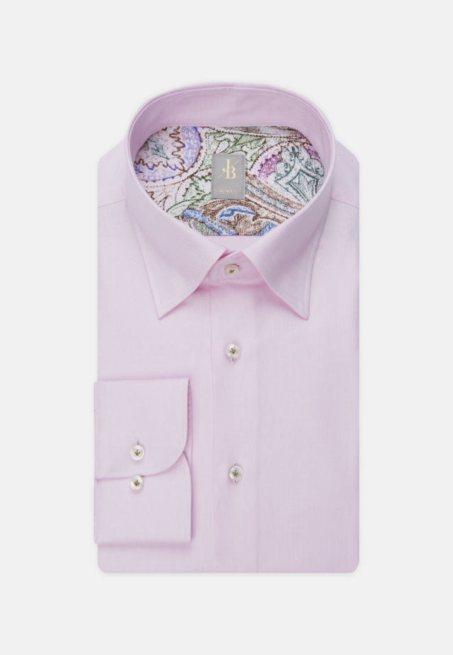 Oxford Business Hemd in Slim Fit mit Under-Button-Down-Kragen in Rosa/Pink |  Jacques Britt Onlineshop