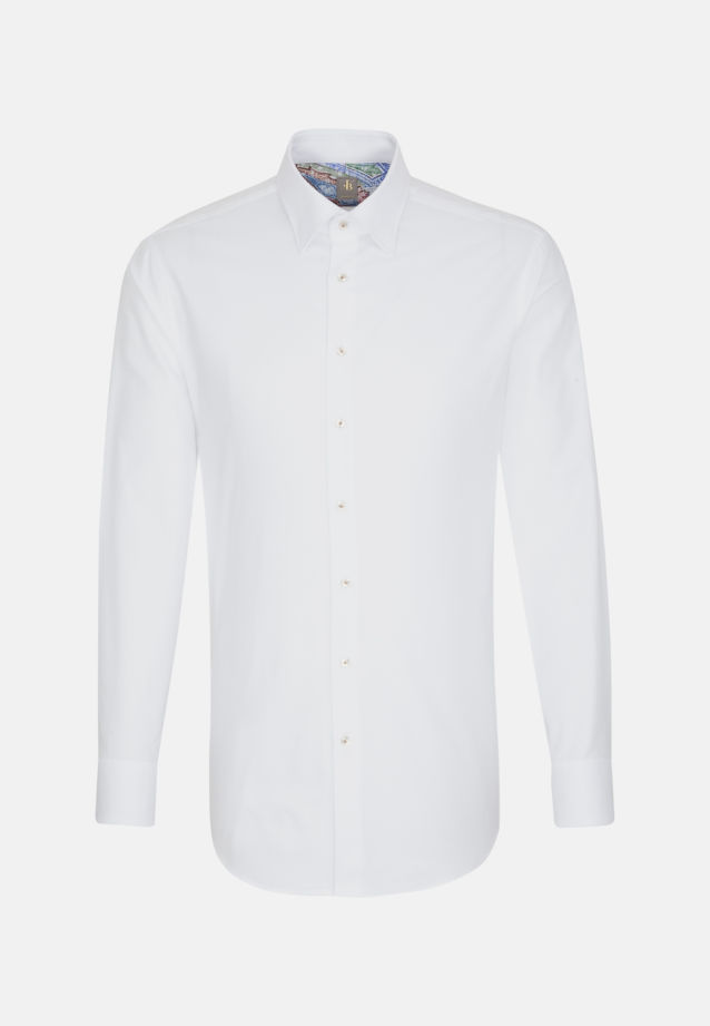 Oxford Business Hemd in Slim Fit mit Under-Button-Down-Kragen in Weiß |  Jacques Britt Onlineshop