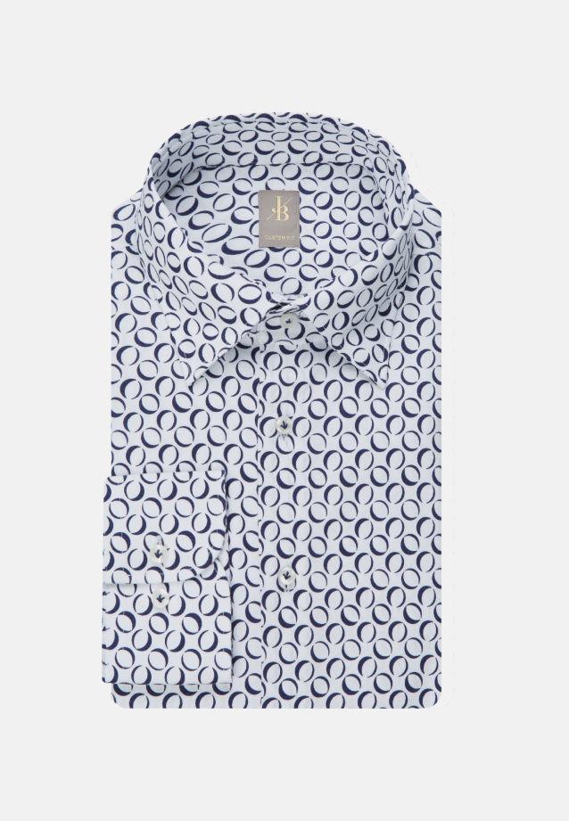 Popeline Business Hemd in Custom Fit mit Under-Button-Down-Kragen in Dunkelblau    Jacques Britt Onlineshop