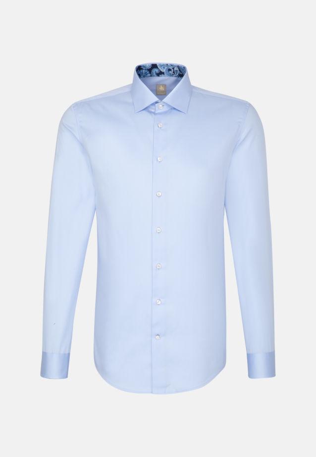 Satin Business Hemd in Custom Fit mit Kentkragen in Hellblau |  Jacques Britt Onlineshop