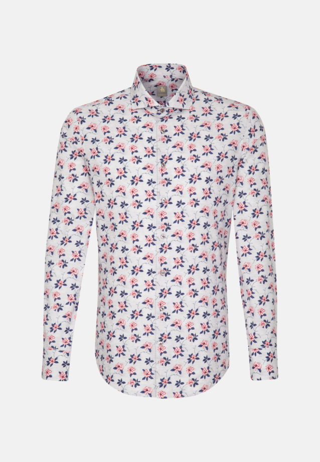 Popeline Business Hemd in Custom Fit mit Haifischkragen in Grau |  Jacques Britt Onlineshop