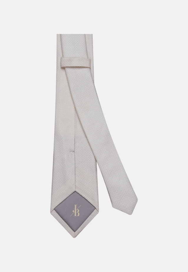 Krawatte aus 100% Seide 7 cm Breit in Ecru |  Jacques Britt Onlineshop