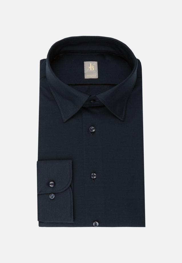 Jersey Smart Casual Hemd in Perfect Fit mit Under-Button-Down-Kragen in Dunkelblau    Jacques Britt Onlineshop