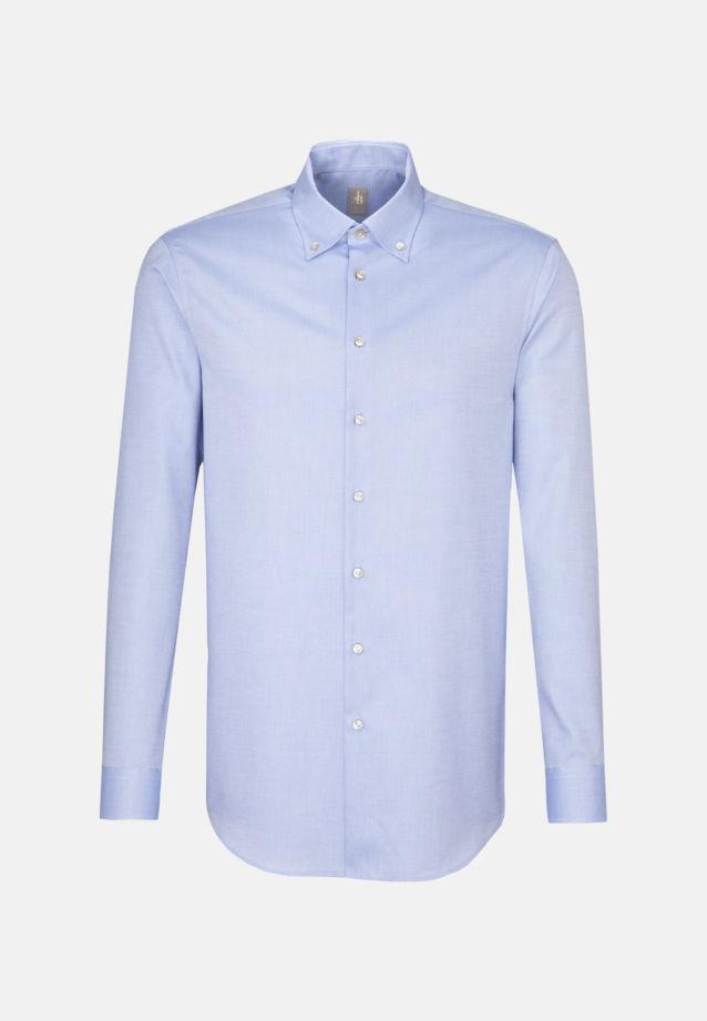 Struktur Business Hemd in Custom Fit mit Button-Down-Kragen in Hellblau |  Jacques Britt Onlineshop