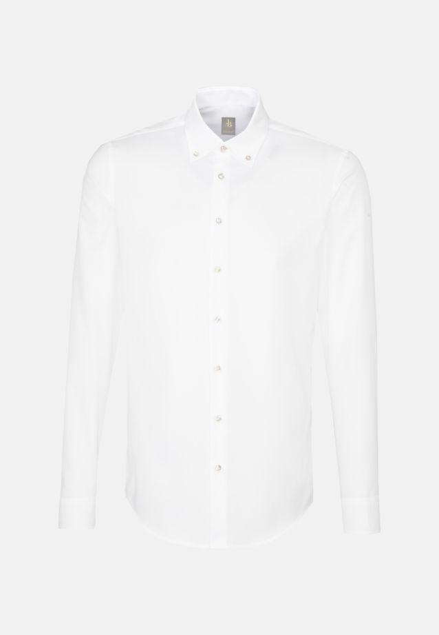 Struktur Business Hemd in Custom Fit mit Button-Down-Kragen in Weiß    Jacques Britt Onlineshop