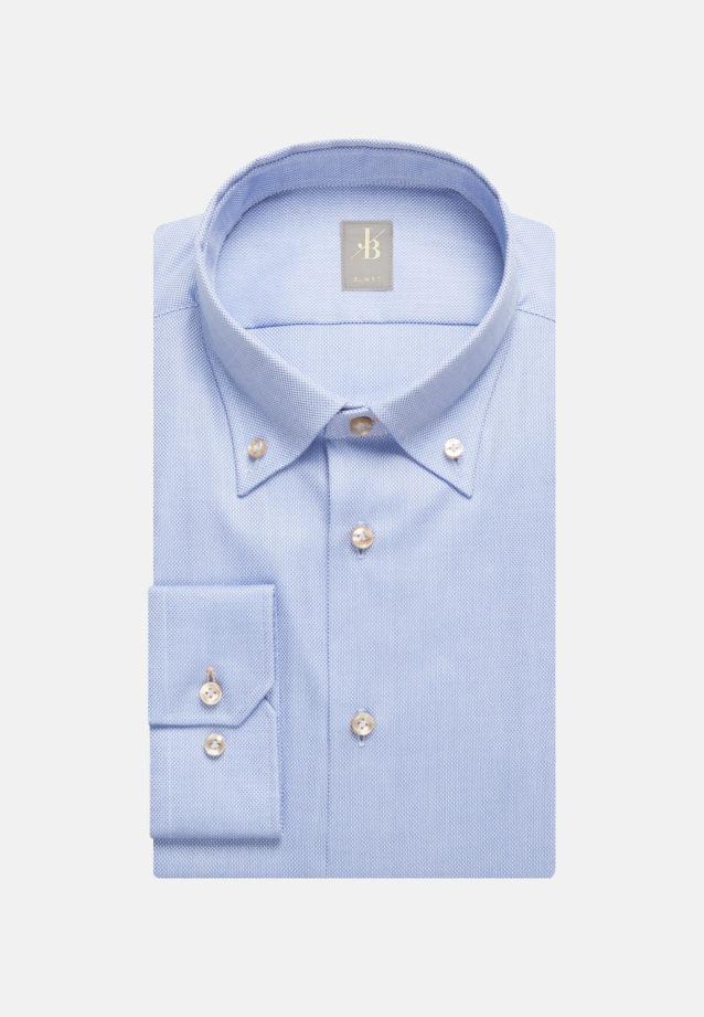 Struktur Business Hemd in Slim Fit mit Button-Down-Kragen in Hellblau |  Jacques Britt Onlineshop