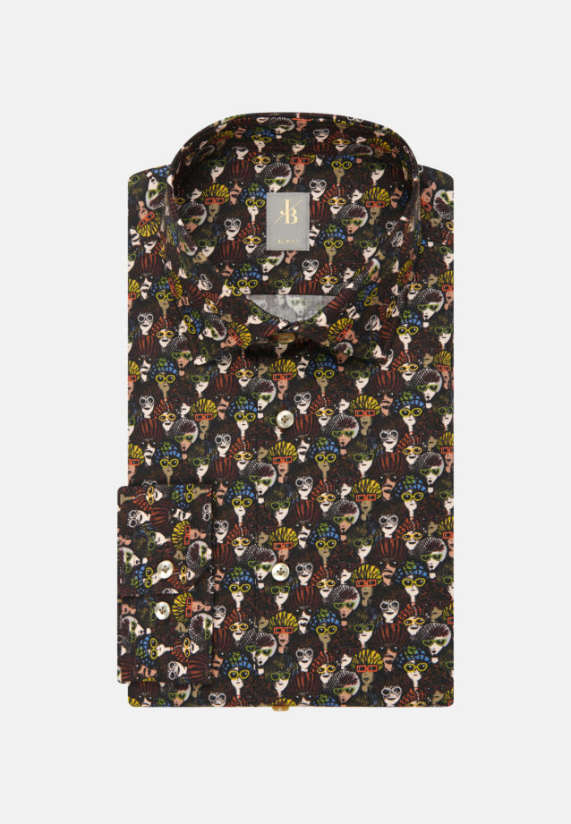 Twill Business Hemd in Slim Fit mit Kentkragen in Rot |  Jacques Britt Onlineshop