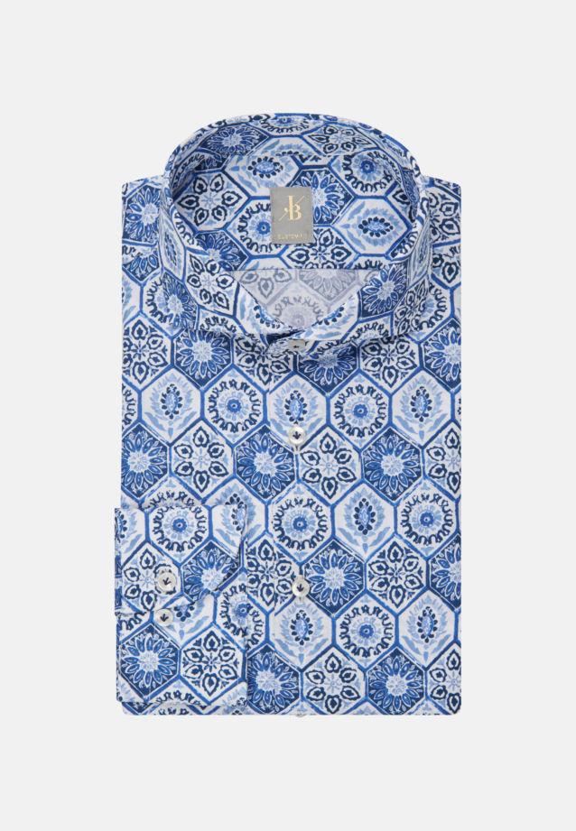 Flammgarn Business Hemd in Custom Fit mit Haifischkragen in Hellblau |  Jacques Britt Onlineshop