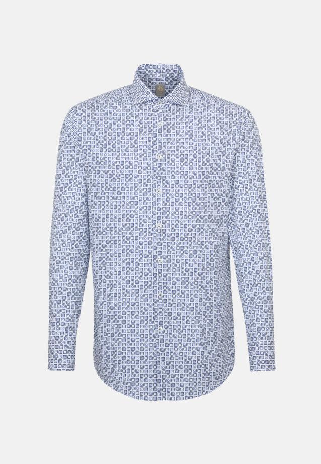 Popeline Business Hemd in Custom Fit mit Haifischkragen in Hellblau    Jacques Britt Onlineshop
