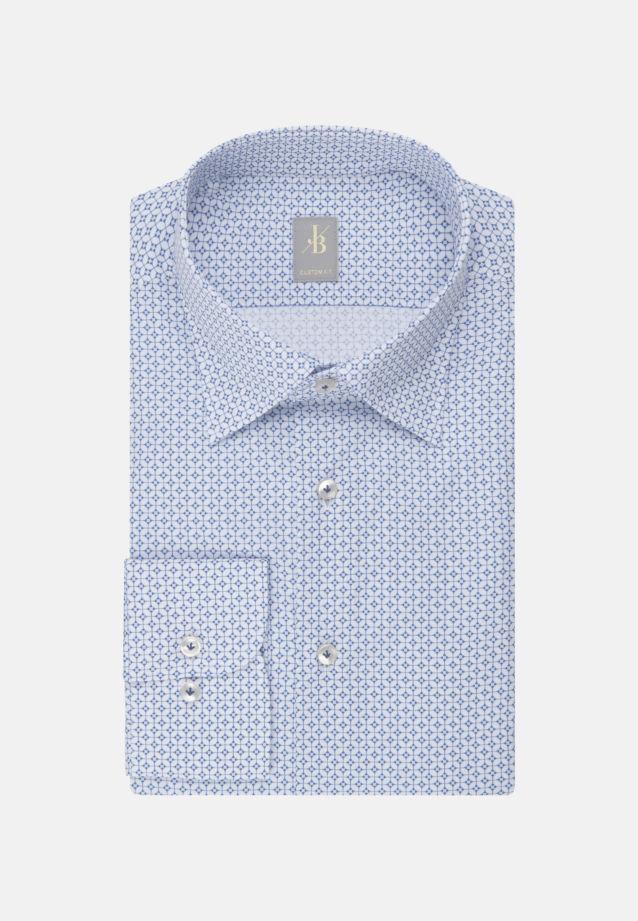 Popeline Business Hemd in Custom Fit mit Under-Button-Down-Kragen in Hellblau    Jacques Britt Onlineshop