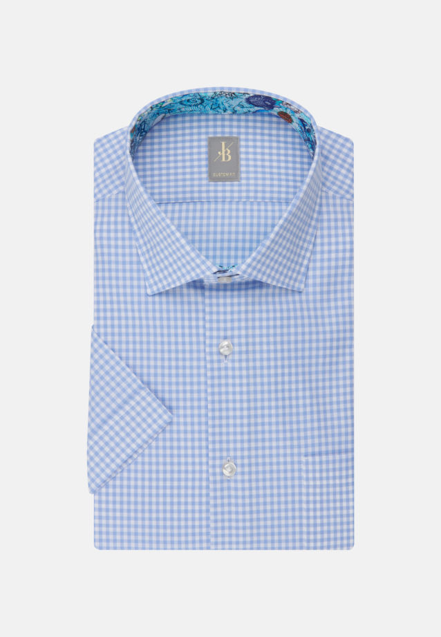 Kurzarm Oxford Business Hemd in Custom Fit mit Kentkragen in Hellblau |  Jacques Britt Onlineshop