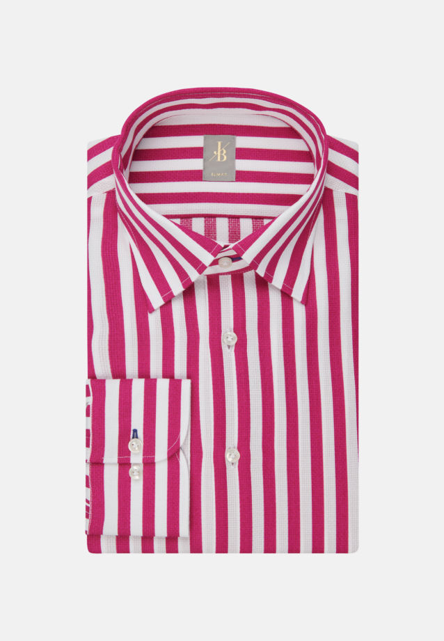 Struktur Business Hemd in Slim Fit mit Under-Button-Down-Kragen in Rosa/Pink |  Jacques Britt Onlineshop