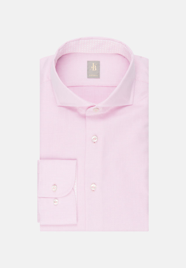 Struktur Business Hemd in Custom Fit mit Haifischkragen in Rosa/Pink |  Jacques Britt Onlineshop