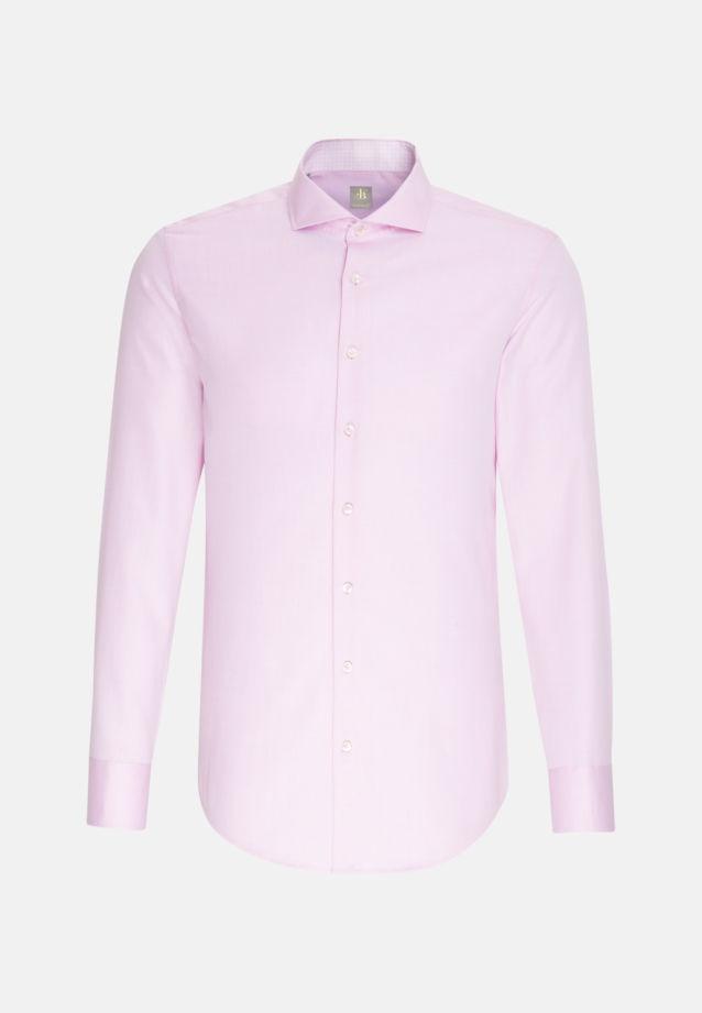 Struktur Business Hemd in Custom Fit mit Haifischkragen in Rosa/Pink    Jacques Britt Onlineshop