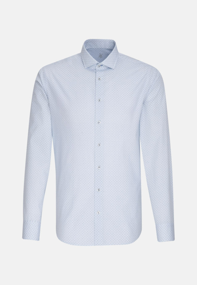 Popeline Smart Casual Hemd in Perfect Fit mit Haifischkragen in Hellblau |  Jacques Britt Onlineshop