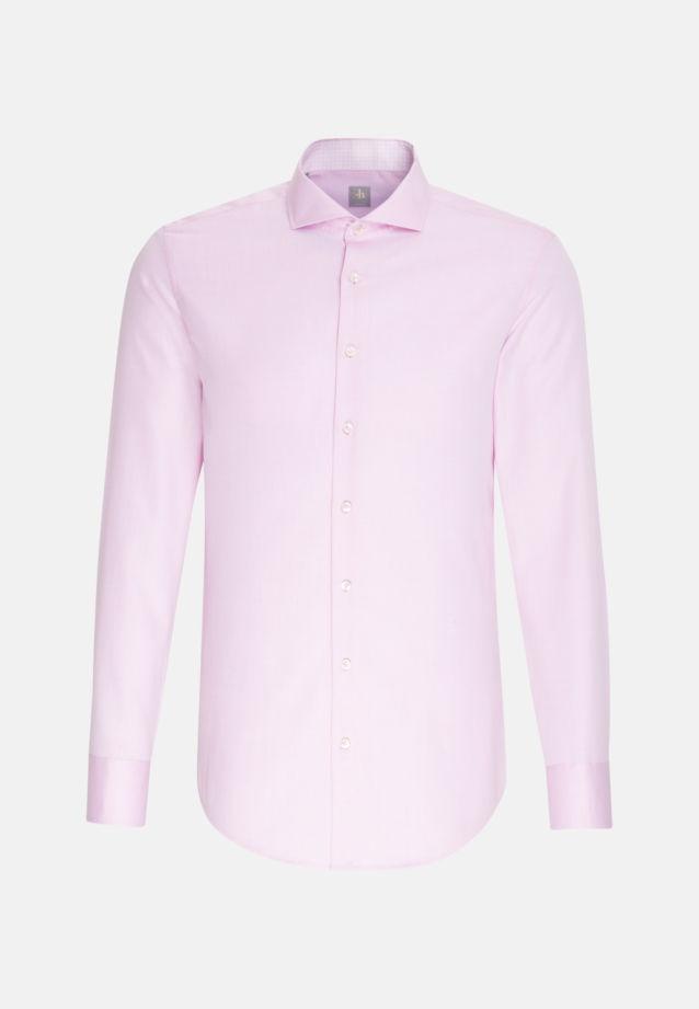 Struktur Business Hemd in Slim Fit mit Haifischkragen in Rosa/Pink |  Jacques Britt Onlineshop