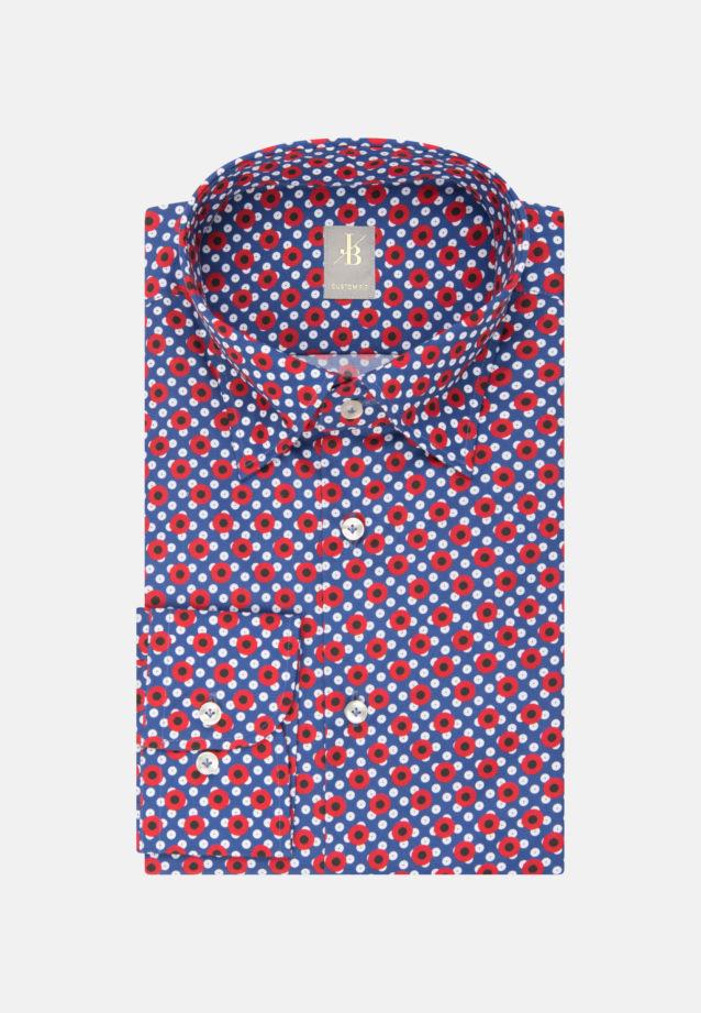 Popeline Business Hemd in Custom Fit mit Under-Button-Down-Kragen in Rot    Jacques Britt Onlineshop