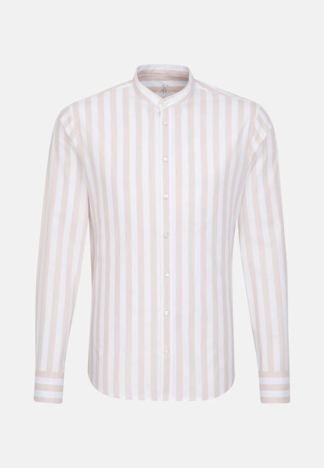 Oxford Smart Casual Hemd in Perfect Fit mit Stehkragen in Braun |  Jacques Britt Onlineshop