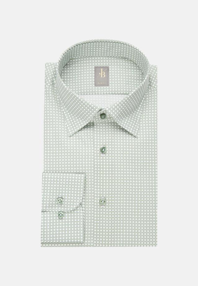 Struktur Business Hemd in Slim Fit mit Under-Button-Down-Kragen in Grün    Jacques Britt Onlineshop