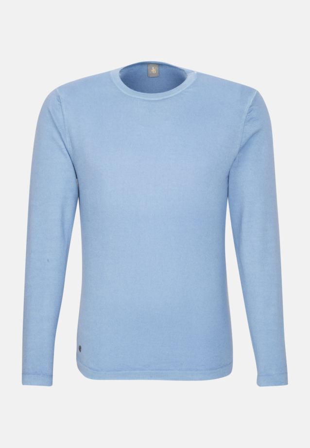 Rundhals Pullover aus 100% Wolle in Hellblau |  Jacques Britt Onlineshop