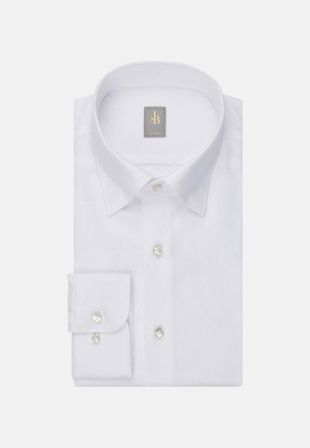 Struktur Business Hemd in Slim Fit mit Under-Button-Down-Kragen in Weiß    Jacques Britt Onlineshop