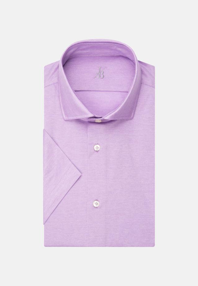 Kurzarm Jersey Smart Casual Hemd in Perfect Fit mit Haifischkragen in Lila    Jacques Britt Onlineshop