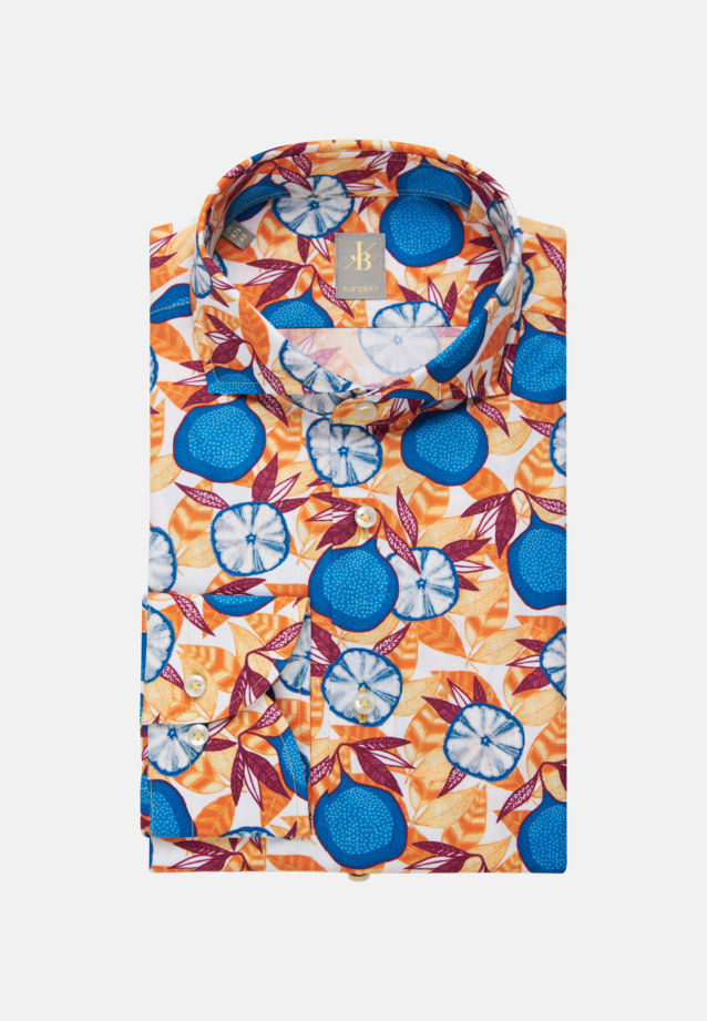 Popeline Business Hemd in Custom Fit mit Haifischkragen in Gelb    Jacques Britt Onlineshop