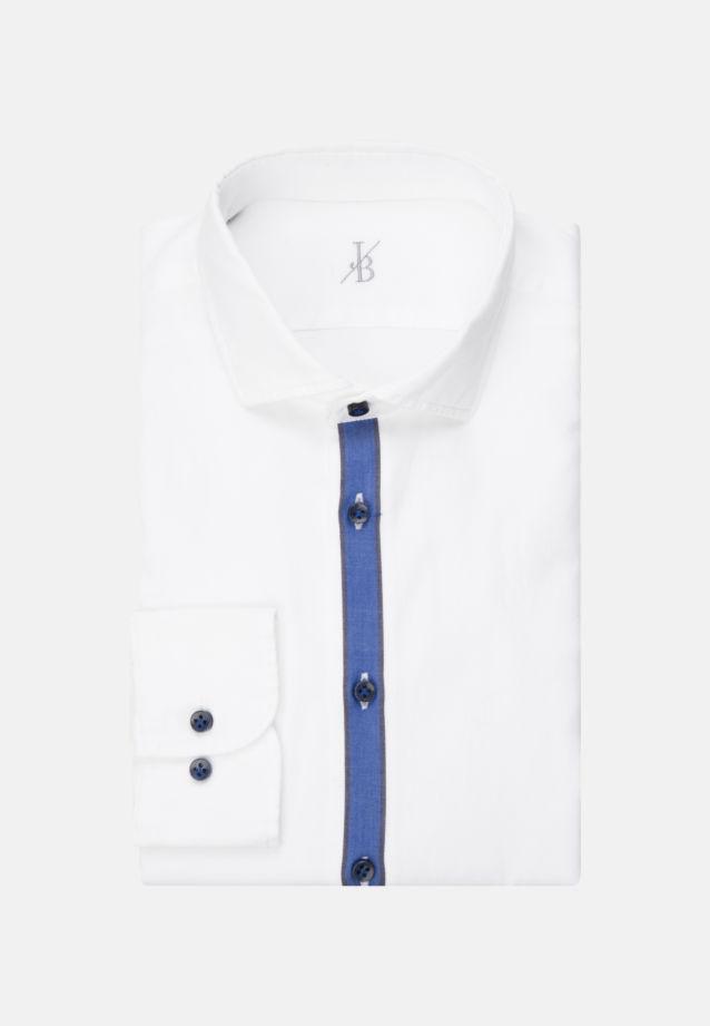 Dobby Smart Casual Hemd in Perfect Fit mit Haifischkragen in Weiß |  Jacques Britt Onlineshop