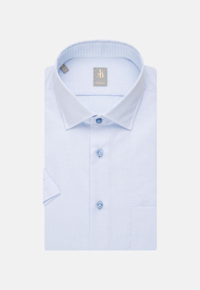Kurzarm Struktur Business Hemd in Custom Fit mit Kentkragen in Hellblau    Jacques Britt Onlineshop
