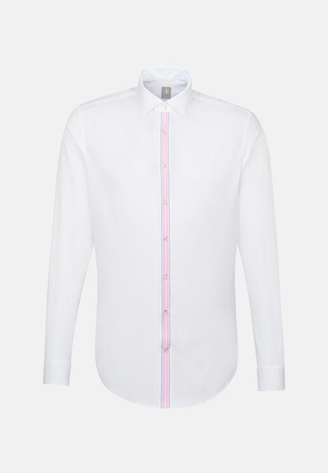 Oxford Business Hemd in Slim Fit mit Kentkragen in Weiß |  Jacques Britt Onlineshop