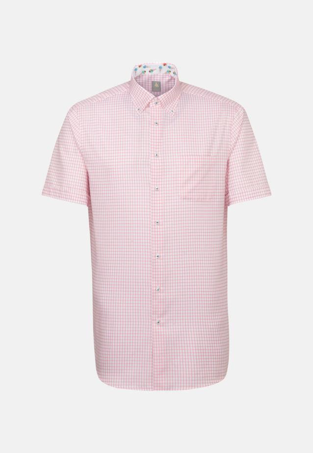 Kurzarm Twill Business Hemd in Custom Fit mit Button-Down-Kragen in Orange    Jacques Britt Onlineshop