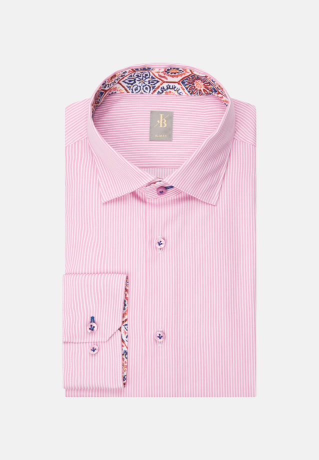 Twill Business Hemd in Slim Fit mit Kentkragen und extra langem Arm in Rosa/Pink |  Jacques Britt Onlineshop