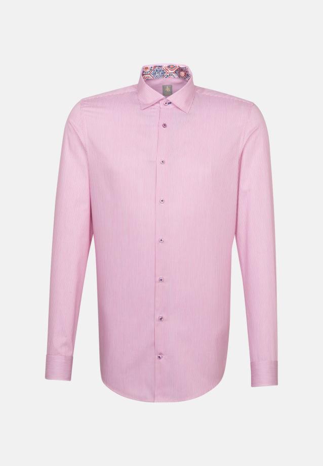 Twill Business Hemd in Slim Fit mit Kentkragen und extra langem Arm in Rosa/Pink |  Jacques Britt Onlineshop