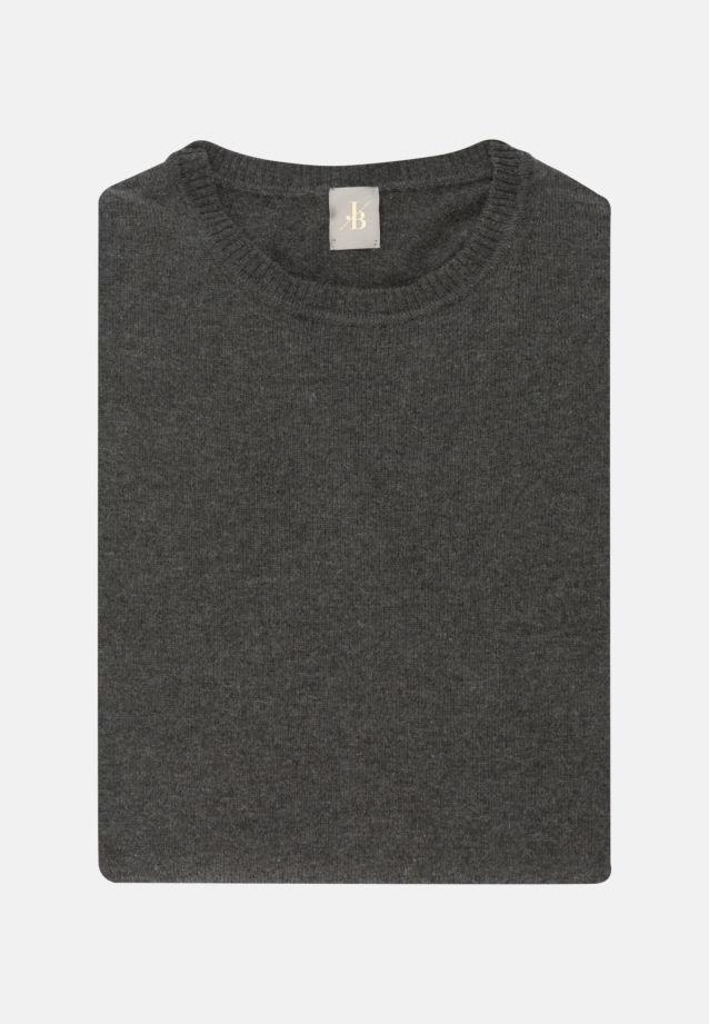 Rundhals Pullover aus Wollmischung in Grau |  Jacques Britt Onlineshop