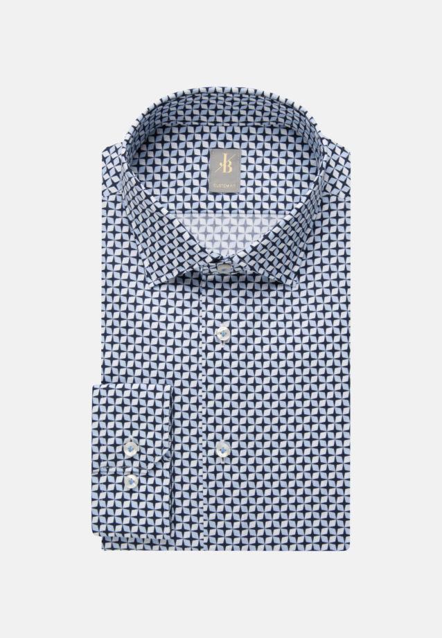 Popeline Business Hemd in Custom Fit mit Kentkragen in Hellblau    Jacques Britt Onlineshop