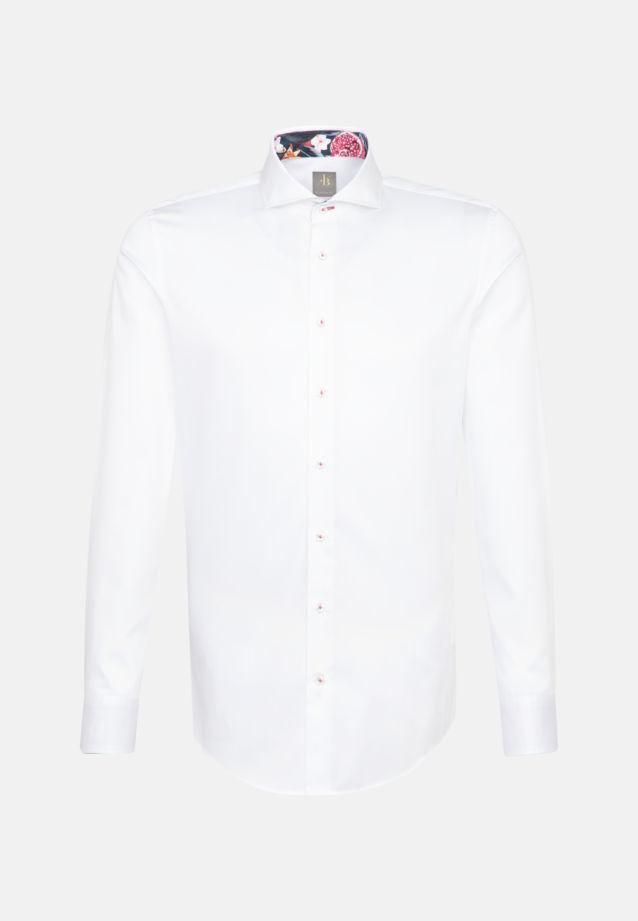 Satin Business Hemd in Custom Fit mit Kentkragen in Weiß |  Jacques Britt Onlineshop