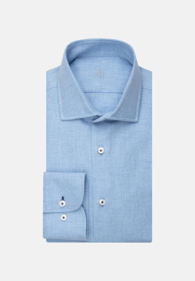 Melange Garne Smart Casual Hemd in Perfect Fit mit Haifischkragen in Hellblau |  Jacques Britt Onlineshop
