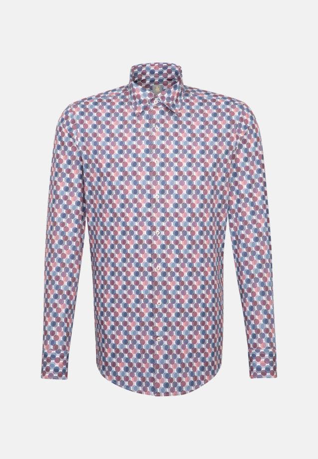 Popeline Business Hemd in Custom Fit mit Under-Button-Down-Kragen in Rosa/Pink |  Jacques Britt Onlineshop