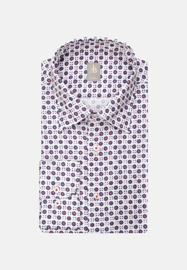 Dobby Business Hemd in Slim Fit mit Under-Button-Down-Kragen in Mittelblau |  Jacques Britt Onlineshop