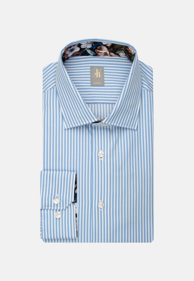Twill Business Hemd in Slim Fit mit Kentkragen in Hellblau |  Jacques Britt Onlineshop