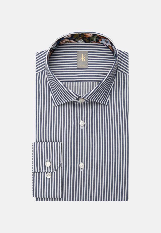 Twill Business Hemd in Slim Fit mit Kentkragen in Dunkelblau |  Jacques Britt Onlineshop
