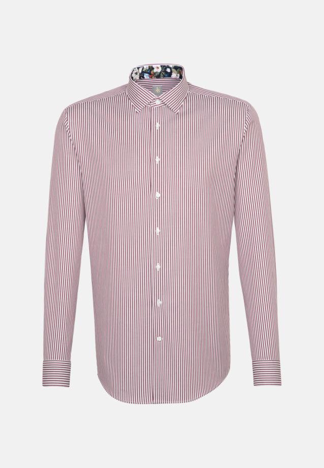 Twill Business Hemd in Custom Fit mit Kentkragen in Rosa/Pink |  Jacques Britt Onlineshop
