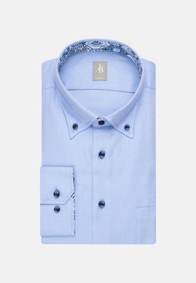 Oxford Business Hemd in Custom Fit mit Button-Down-Kragen in Hellblau |  Jacques Britt Onlineshop
