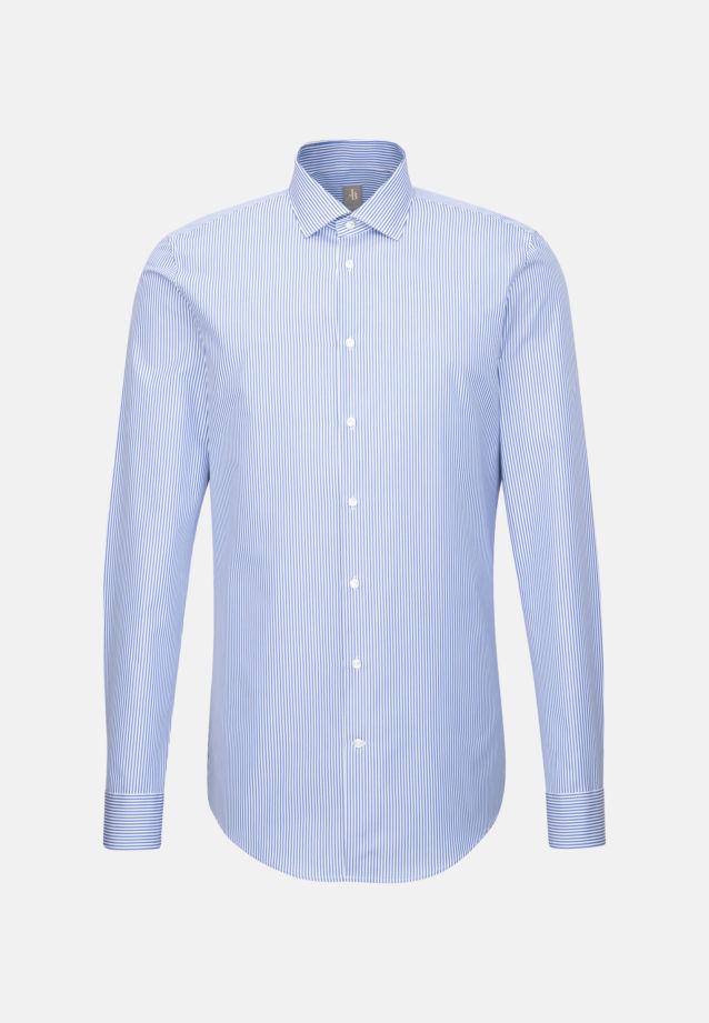 Popeline Business Hemd in Slim Fit mit Kentkragen und extra langem Arm in Blau |  Jacques Britt Onlineshop