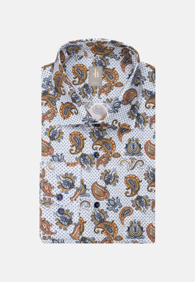 Popeline Business Hemd in Slim Fit mit Kentkragen in Braun    Jacques Britt Onlineshop