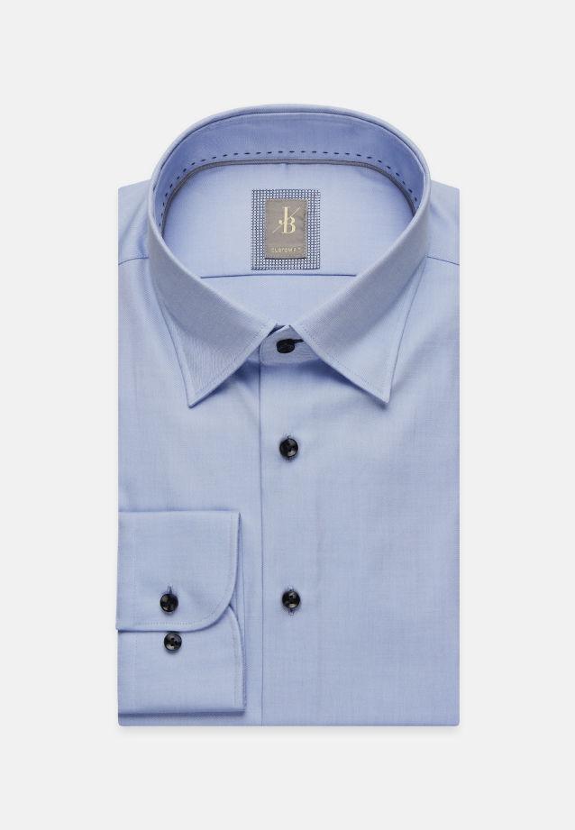 Twill Business Hemd in Custom Fit mit Under-Button-Down-Kragen in Hellblau |  Jacques Britt Onlineshop