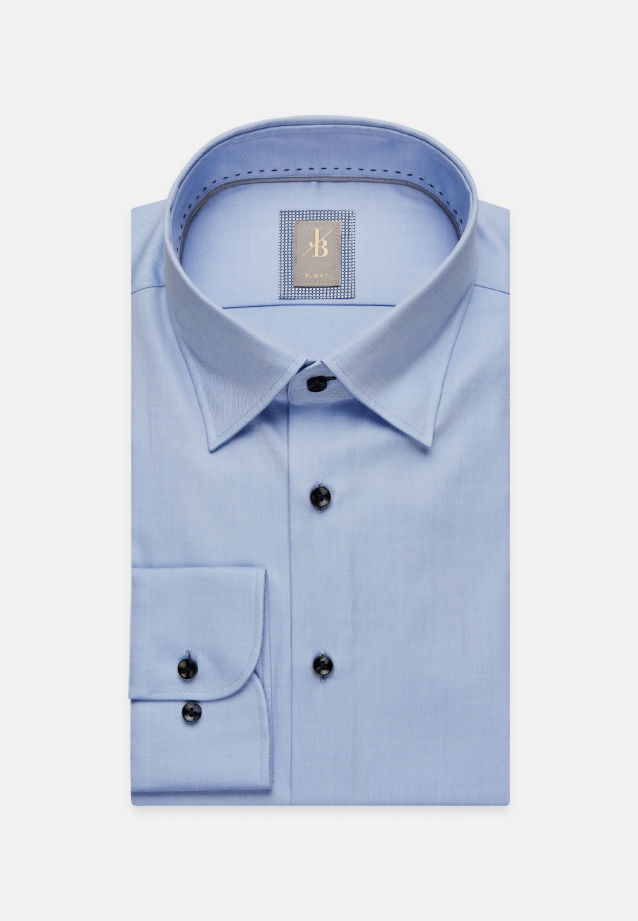 Twill Business Hemd in Slim Fit mit Under-Button-Down-Kragen in Hellblau |  Jacques Britt Onlineshop